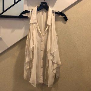 Robert Rodriguez silk white top